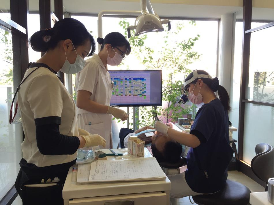 歯科衛生士学校の実習スタート!!